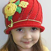 Работы для детей, ручной работы. Ярмарка Мастеров - ручная работа Панамка для девочки. Handmade.