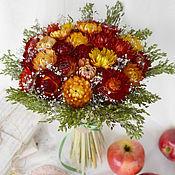 Цветы и флористика ручной работы. Ярмарка Мастеров - ручная работа «Немножко лета» букет из сухоцветов. Handmade.