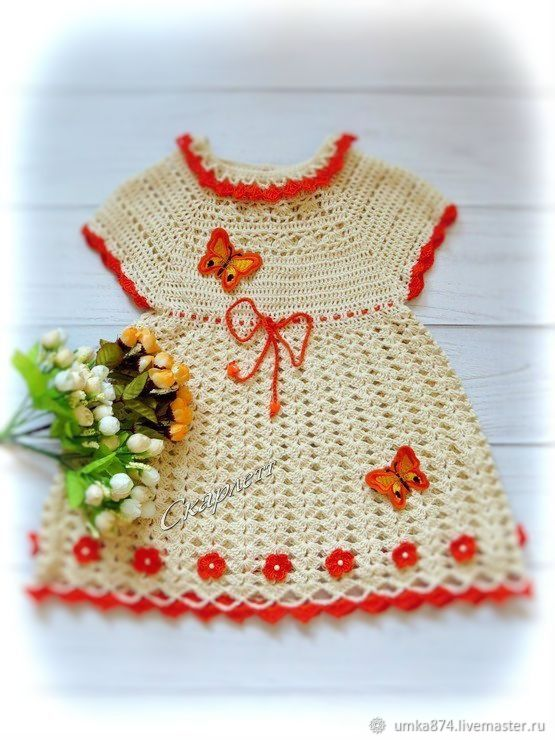 Вязаное платье для девочки 4-6 лет, хлопок 100%, летнее платье, Платье, Зеленоград,  Фото №1