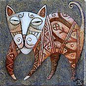 """Картины и панно ручной работы. Ярмарка Мастеров - ручная работа """"Котик"""", авторская печать.. Handmade."""