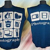 Одежда ручной работы. Ярмарка Мастеров - ручная работа Тату-свитер -  безрукавка фотографа (вар.2). Handmade.