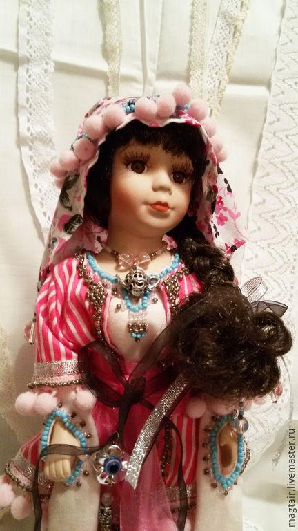 Коллекционные куклы ручной работы. Ярмарка Мастеров - ручная работа. Купить Эсмегюль, кукла в восточном стиле. Handmade. Розовый, для женщины
