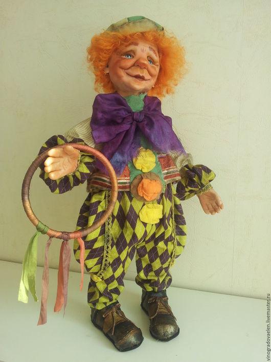 """Коллекционные куклы ручной работы. Ярмарка Мастеров - ручная работа. Купить Клоун """" Солнышко"""". Handmade. Клоун, яркая кукла"""
