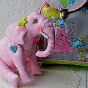 """Комплект для девочки """"Жил на поляне розовый слон..."""""""