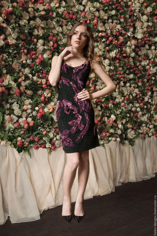 Платья ручной работы. Ярмарка Мастеров - ручная работа. Купить Дизайнерское вечернее мини платье. Handmade. Черный, эксклюзивное платье