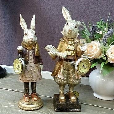 Для дома и интерьера ручной работы. Ярмарка Мастеров - ручная работа Белый Кролик с часами. Handmade.