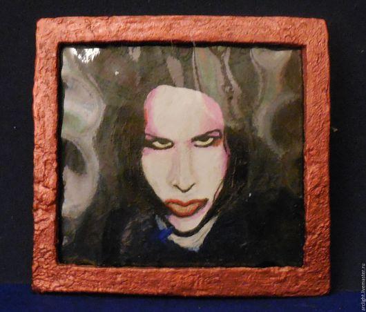 Люди, ручной работы. Ярмарка Мастеров - ручная работа. Купить Миниатюрный портрет Marilyn Manson. Handmade. Комбинированный, миниатюра