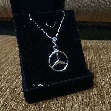 Сувениры и подарки. Ярмарка Мастеров - ручная работа Aksesuarlar: Mercedes Benz Necklace. Handmade.