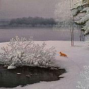 Картины и панно handmade. Livemaster - original item The author`s picture of Winter silence. ( Vladimir Tarasov). Handmade.
