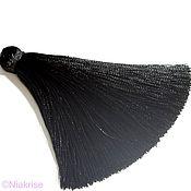 Материалы для творчества ручной работы. Ярмарка Мастеров - ручная работа Кисти для украшений черные 8,5 см k004. Handmade.