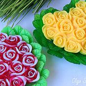 """Косметика ручной работы. Ярмарка Мастеров - ручная работа Мыло """"Сердце из роз"""". Handmade."""