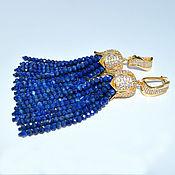 Украшения handmade. Livemaster - original item Earrings tassels Lazurit LILU Natural lapis lazuli Author`s work. Handmade.
