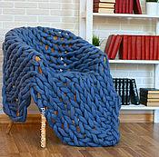 Для дома и интерьера ручной работы. Ярмарка Мастеров - ручная работа Плед меринос крупной вязки. Handmade.