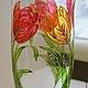 """Вазы ручной работы. Ярмарка Мастеров - ручная работа. Купить Ваза для цветов """"Тюльпаны"""" богемское стекло. Handmade. Разноцветный, тюльпаны"""