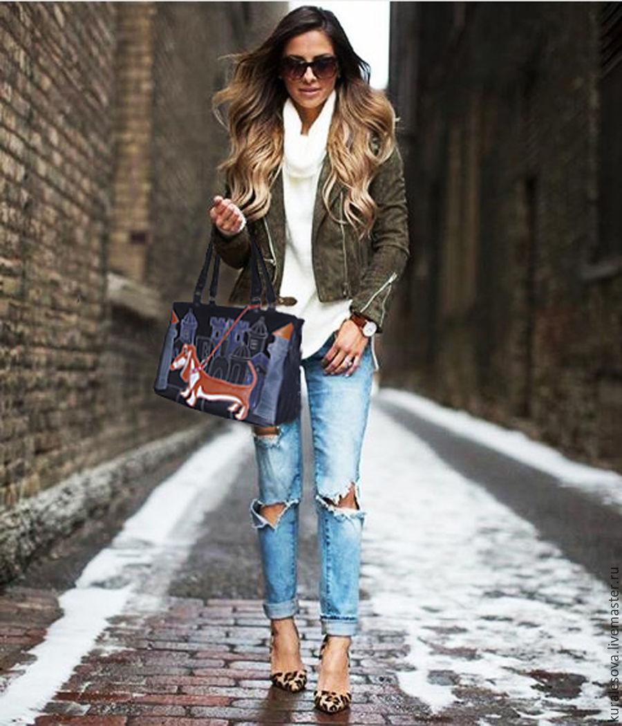 сделать сине-белые джинсы с чем носить зимой фото тату