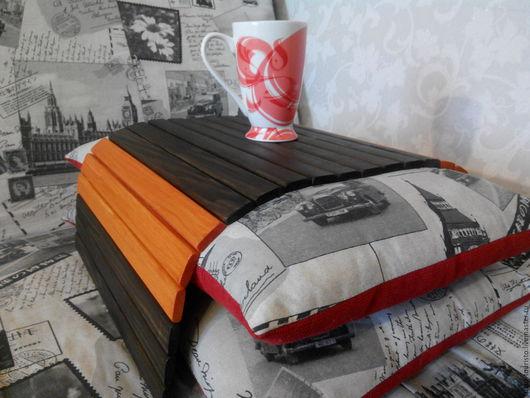 Кухня ручной работы. Ярмарка Мастеров - ручная работа. Купить Гибкий столик венге+махагон, накладка на диван, гибкий поднос. Handmade.