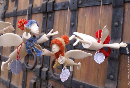 Сказочные персонажи ручной работы. Ярмарка Мастеров - ручная работа. Купить Ангел в шапочке и шарфике. Handmade. Ангел, оригинальный