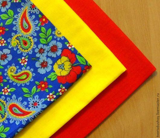 Другие виды рукоделия ручной работы. Ярмарка Мастеров - ручная работа. Купить Набор тканей из хлопка 3 отрезов (108). Handmade.