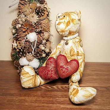Куклы и игрушки ручной работы. Ярмарка Мастеров - ручная работа Винтажный мишка в стиле Тильда. Handmade.