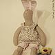 Куклы Тильды ручной работы. Зайка Сеня. Evgenia Nikolaeva (Malinka). Интернет-магазин Ярмарка Мастеров. Игрушка в подарок, лен