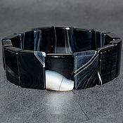 Украшения handmade. Livemaster - original item Natural Black Agate Bracelet. Handmade.
