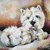 Картины и панно ручной работы. Ярмарка Мастеров - ручная работа Портрет собаки на заказ  картина маслом по фотографии. Handmade.