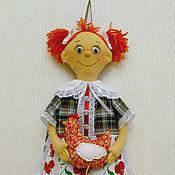Для дома и интерьера ручной работы. Ярмарка Мастеров - ручная работа Пакетница рыженькая с курочкой. Handmade.