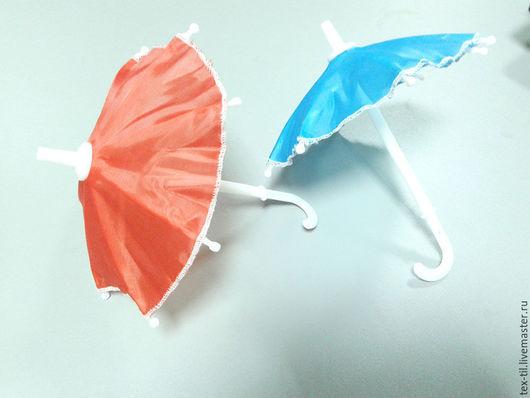Куклы и игрушки ручной работы. Ярмарка Мастеров - ручная работа. Купить Зонт для кукол. Handmade. Ярко-красный, зонт для кукол