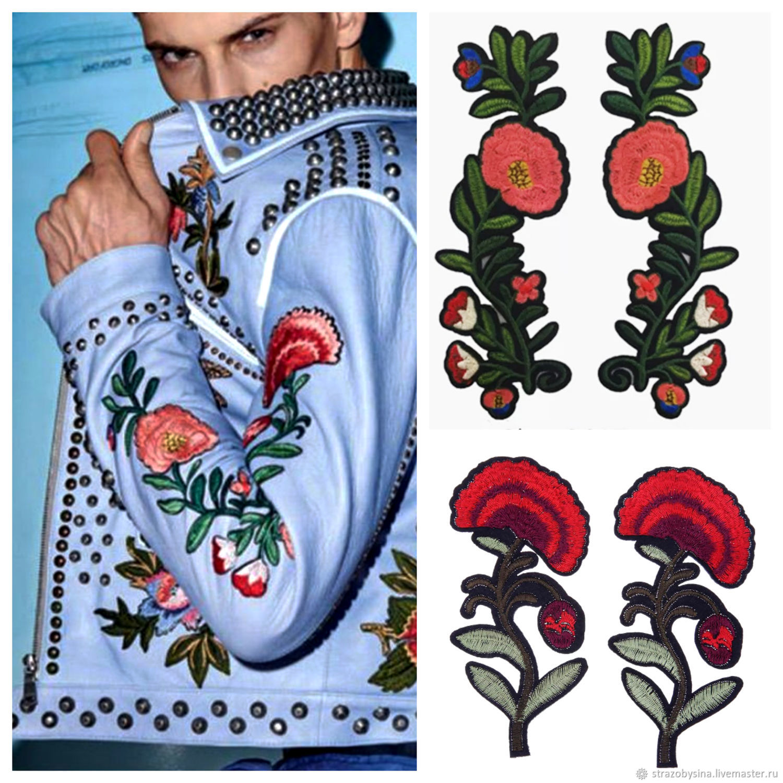 Вышивка в виде цветов, набор 4 шт, Аксессуары для вышивки, Санкт-Петербург,  Фото №1