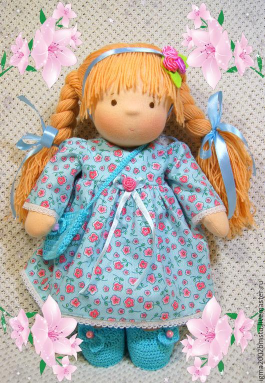 Вальдорфская игрушка ручной работы. Ярмарка Мастеров - ручная работа. Купить Куколка Настенька по вальдорфским мотивам. Handmade. Комбинированный