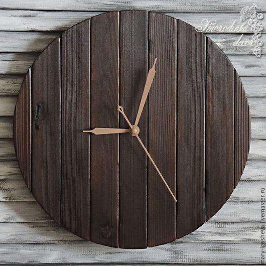 Часы для дома ручной работы. Ярмарка Мастеров - ручная работа. Купить Часы Круг Удачи. Handmade. Винтаж, из дерева
