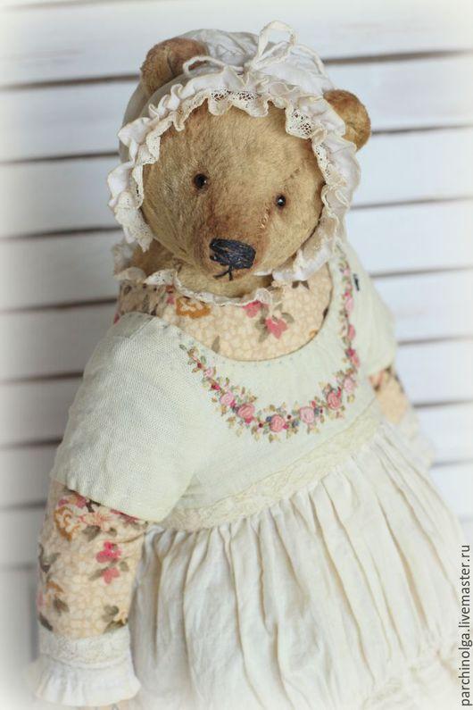 Мишки Тедди ручной работы. Ярмарка Мастеров - ручная работа. Купить Тётушка Меланья (по мотивам). Handmade. Бежевый, тедди