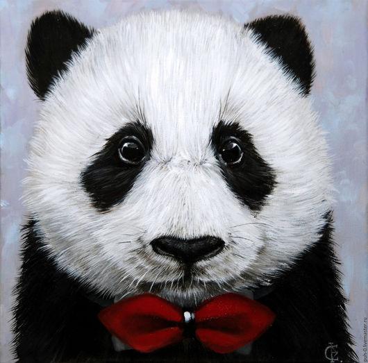 Животные ручной работы. Ярмарка Мастеров - ручная работа. Купить Портрет панды. Handmade. Чёрно-белый, панда, портрет по фото
