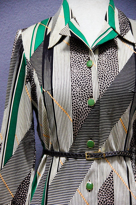 Одежда. Ярмарка Мастеров - ручная работа. Купить Платье JAPAN 60-е винтаж. Handmade. Комбинированный, винтаж, винтажное платье