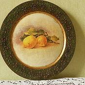 """Для дома и интерьера ручной работы. Ярмарка Мастеров - ручная работа Панно """"Лимоны"""". Handmade."""