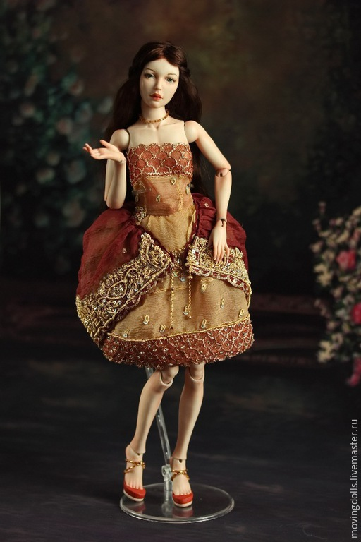 Коллекционные куклы ручной работы. Ярмарка Мастеров - ручная работа. Купить Шарнирная фарфоровая кукла Полина. Handmade. Шарнирная кукла