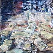 Картины ручной работы. Ярмарка Мастеров - ручная работа Картина маслом с деньгами. Картина привлекающая деньги. Handmade.