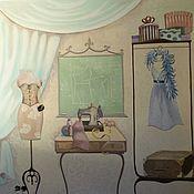 Дизайн и реклама ручной работы. Ярмарка Мастеров - ручная работа Роспись Старинное ателье:). Handmade.