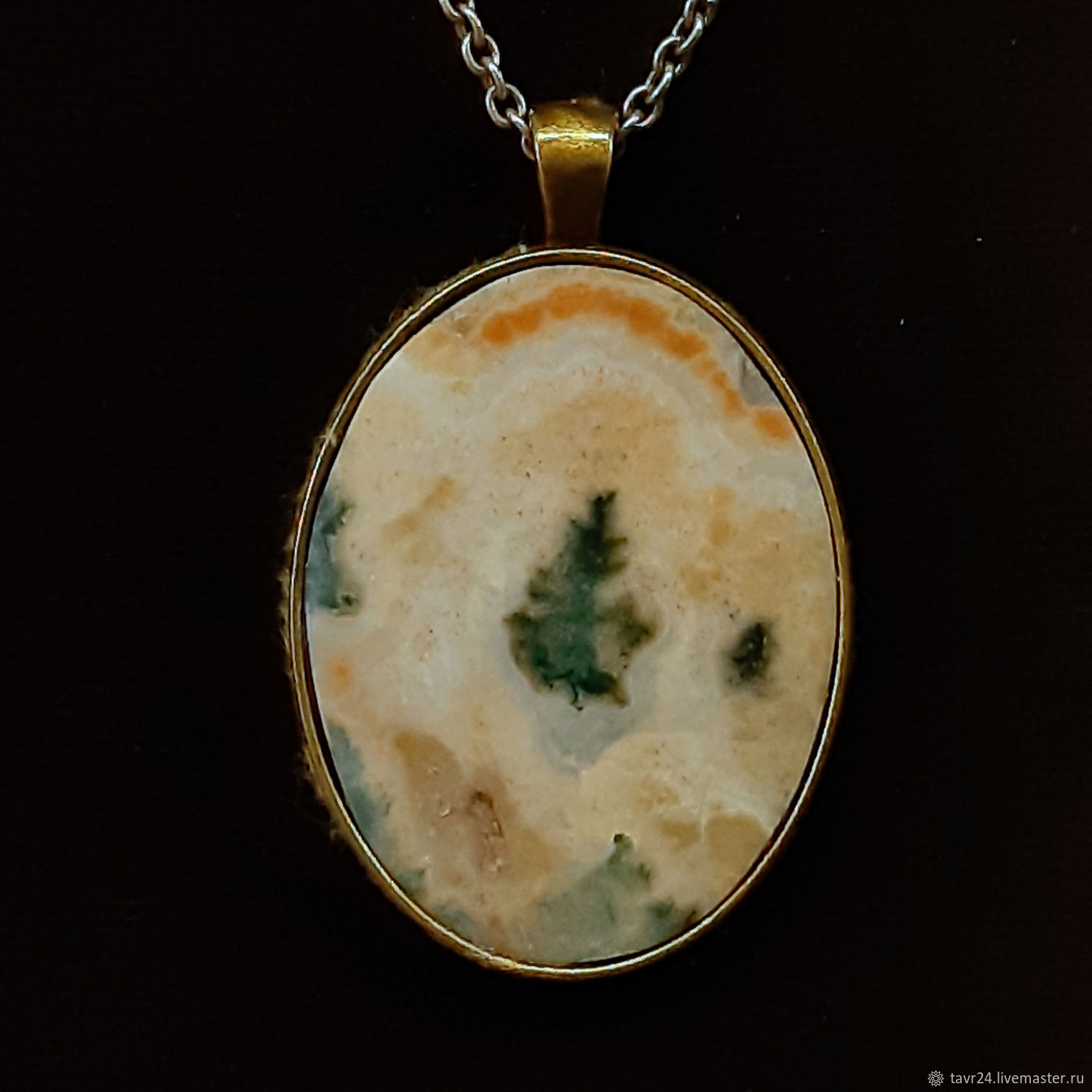 pendant No. 50. Chalcedony, an agate, agate Moholy, Pendant, St. Petersburg,  Фото №1