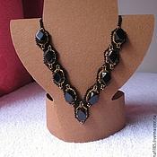 Украшения handmade. Livemaster - original item Necklace Obsidian. Handmade.