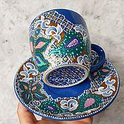 """Чайные пары ручной работы. Ярмарка Мастеров - ручная работа Чайная пара """"Летнее настроение"""". Handmade."""