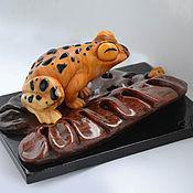 """Для дома и интерьера ручной работы. Ярмарка Мастеров - ручная работа """"Лягушка"""" из камня. Handmade."""