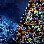 """Одежда ручной работы. Ярмарка Мастеров - ручная работа юбка из штапеля """"Ночной сад"""". Handmade."""