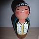 Народные куклы ручной работы. Ярмарка Мастеров - ручная работа. Купить kokeshi японская кукла. Handmade. Роспись по дереву, разноцветный