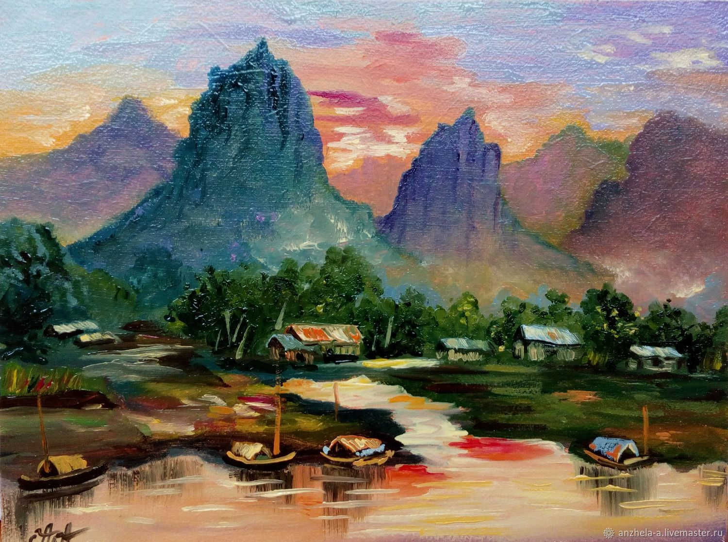 Painting 'Serenity' oil 15/20, Pictures, Moscow,  Фото №1