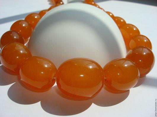 """Колье, бусы ручной работы. Ярмарка Мастеров - ручная работа. Купить Янтарные БУСЫ """"Яичный желток"""". Handmade. Оранжевый, оливка"""
