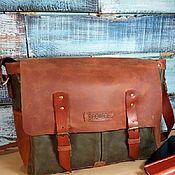 Сумки и аксессуары handmade. Livemaster - original item Men`s large leather handbag. Handmade.