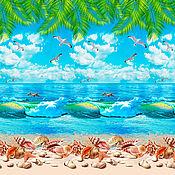 Для дома и интерьера handmade. Livemaster - original item Towel `Sea` cotton 100. Handmade.
