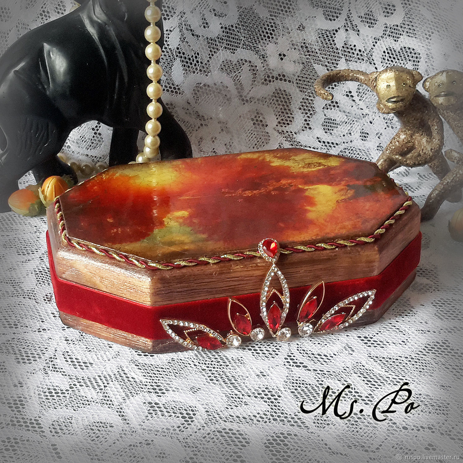 Trinket Boxes handmade. Livemaster - handmade. Buy Box 'a Study in scarlet'.Gift, gifts for women, printout