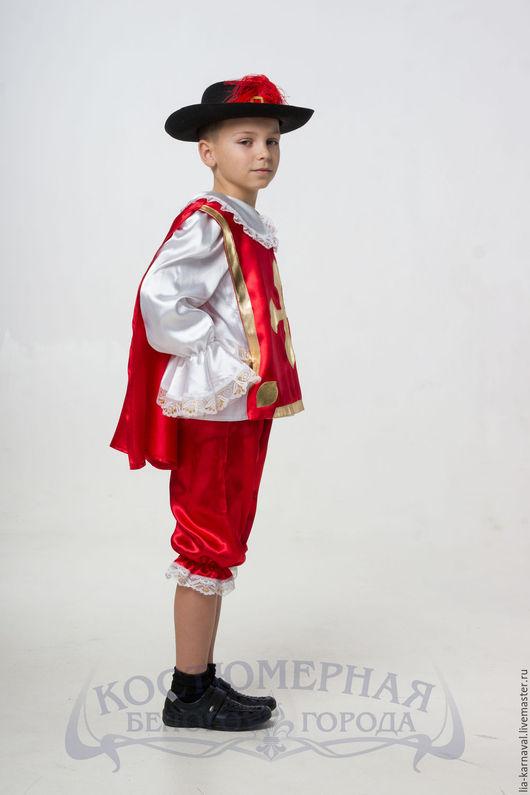 """Карнавальные костюмы ручной работы. Ярмарка Мастеров - ручная работа. Купить Костюм """"Мушкетер"""" красный. Handmade. Комбинированный, детский костюмчик"""